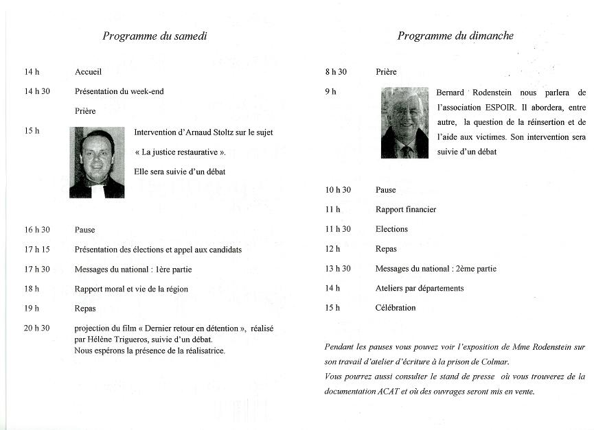 programme rassemblement régional 2011